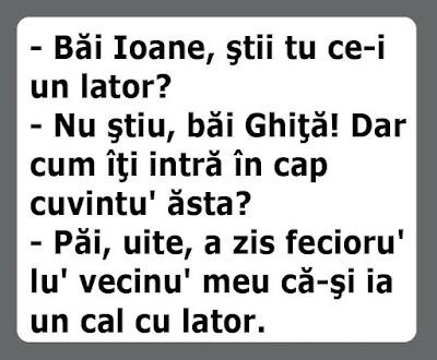 Ce este un Lator - Bancuri haioase cu Ion si Gheorghe