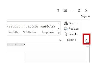 Mengembalikan Menu di Bagian Atas MS Word yang Hilang