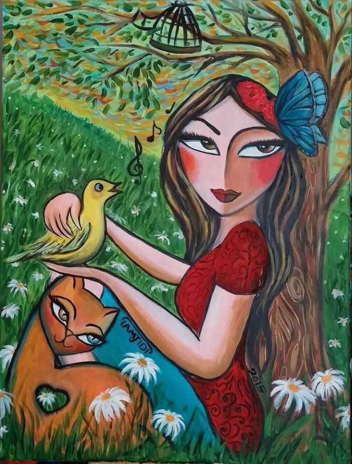 Иранский художник-самоучка. Sara Tamjidi