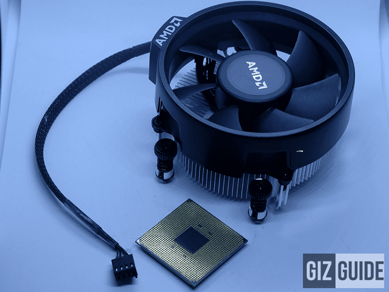 The intricate but solid and refined build quality of both processor and stock fan!