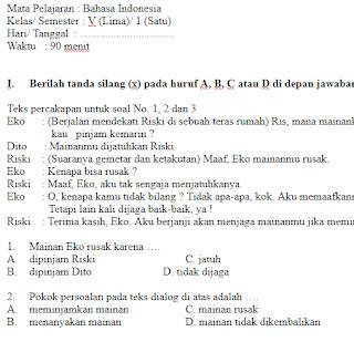 Soal-UAS-UKK-Bahasa-Indonesia-Kelas-5-SD-Semester-1