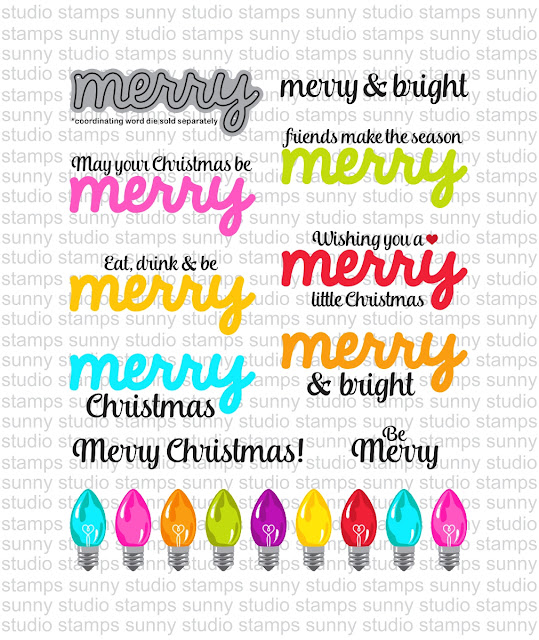 Sunny Studio Stamps: Merry Sentiments & Merry Word Die Examples