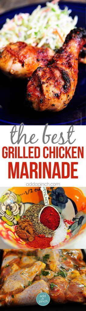 THE BEST GRILLED CHICKEN MARINADE RECIPE