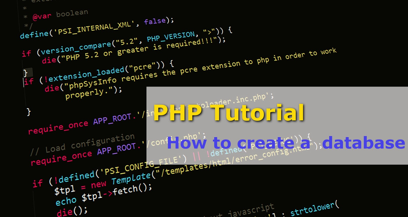 Php How To Create A Database Anuptechtips