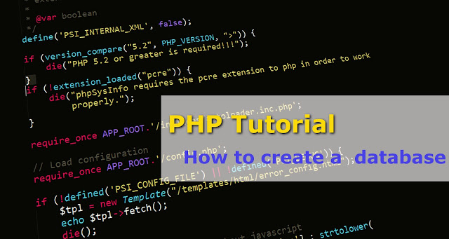 PHP - How to create a database?