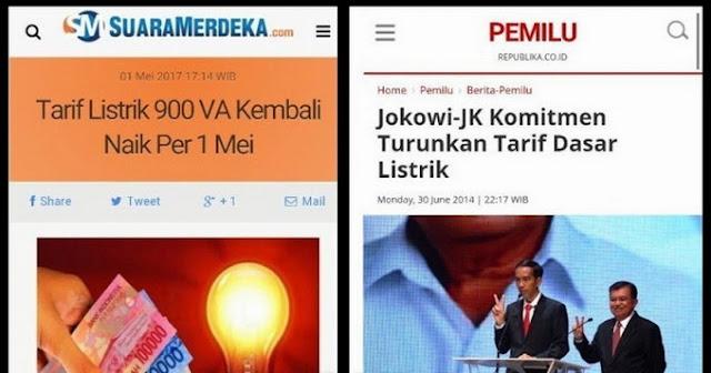 Tarif Listrik Semakin Mencekik Rakyat, Naik 100% Dalam 7 Bulan, Netizen: Pak Jokowi Tau Ga Nih?