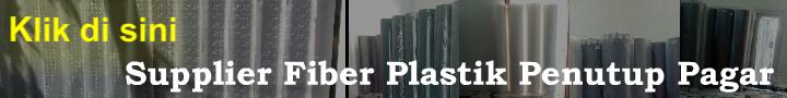 supplier fiber plastik penutup pagar