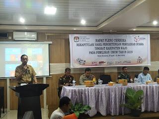 Rapat Pleno Terbuka Rekapitulasi Hasil Penghitungan Perolehan Suara Tingkat Kabupaten Wajo Pemilu 2019