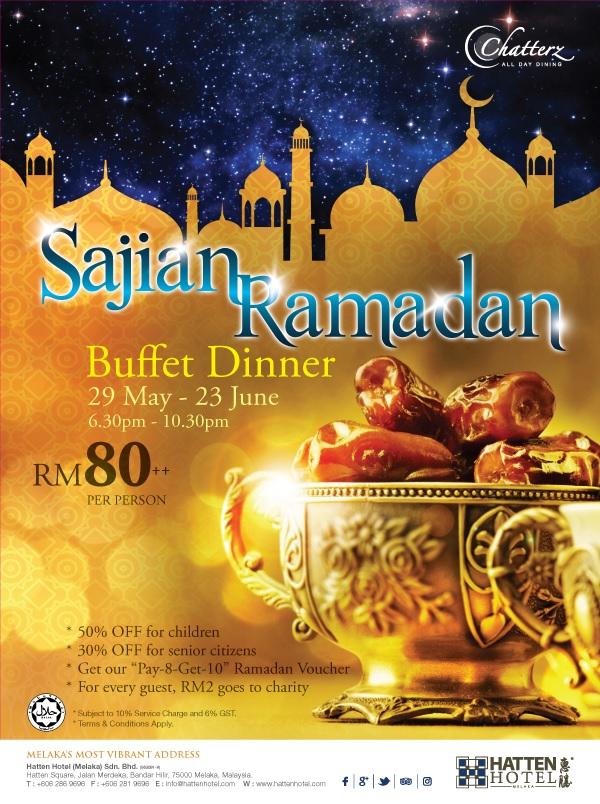 Buffet Ramadhan Hatten Melaka 2017