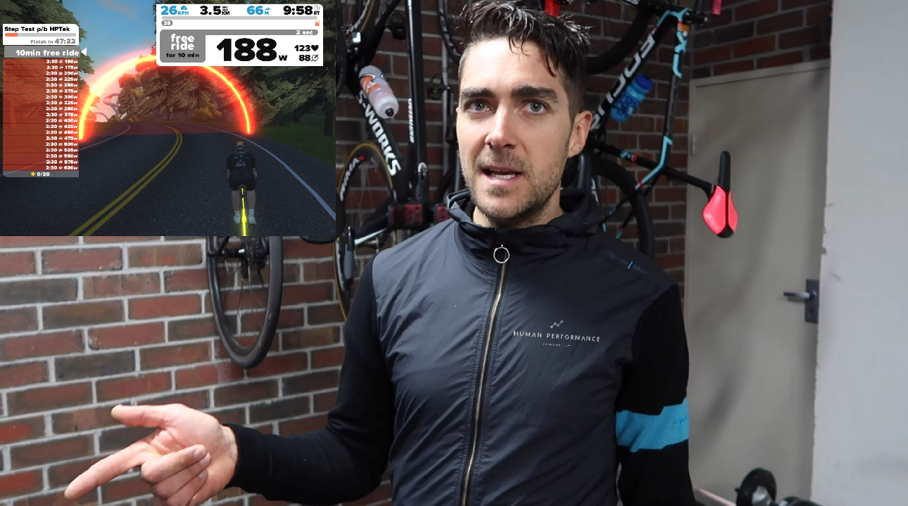 Tales from the llama   : How to do a STEP TEST on ZWIFT p/b HPTek