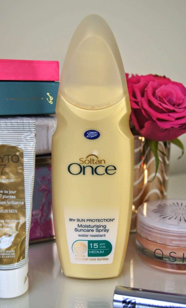 boots soltan once moisturising suncare spf spray review