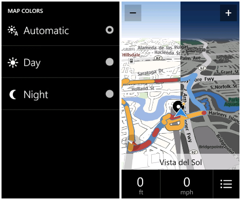 nokia drive 3 0 is finally here brings my commute pin to start day night mode features. Black Bedroom Furniture Sets. Home Design Ideas