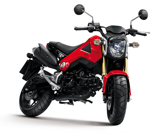 Honda MSX125 Motorcycle red