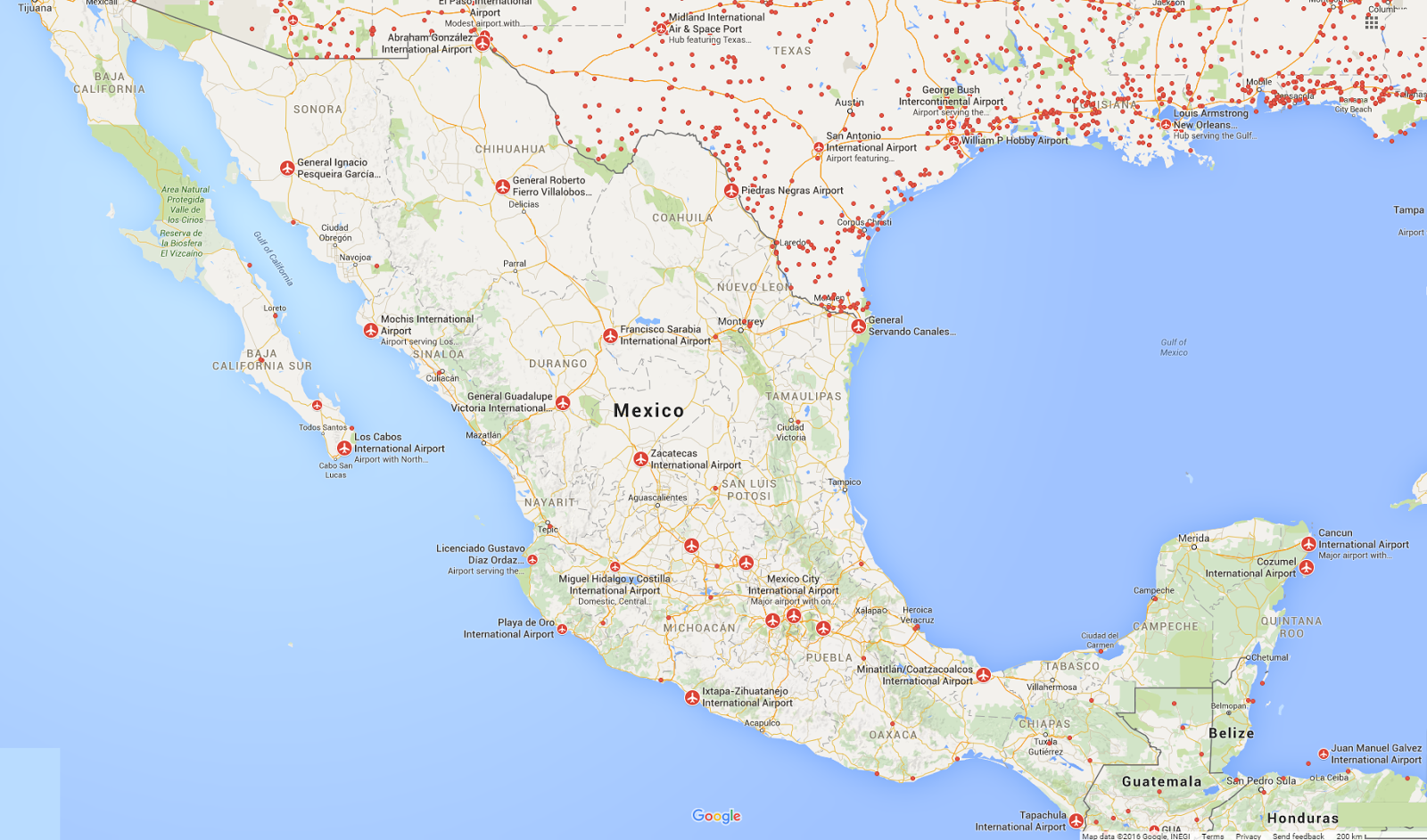 FlightRadar Mexico Airports Plane Flight Tracker - Airports in mexico