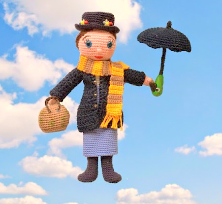 amigurumi Mary Poppins Free Crochet Pattern