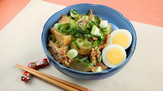 大根と豚肉の簡単!にんにく味噌の煮物レシピ