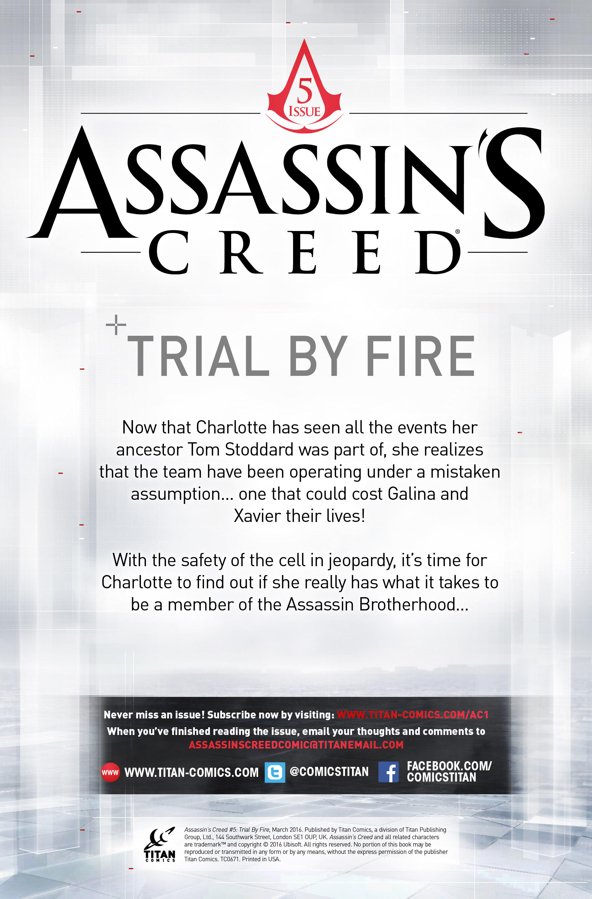 Read online Assassin's Creed (2015) comic -  Issue #5 - 2