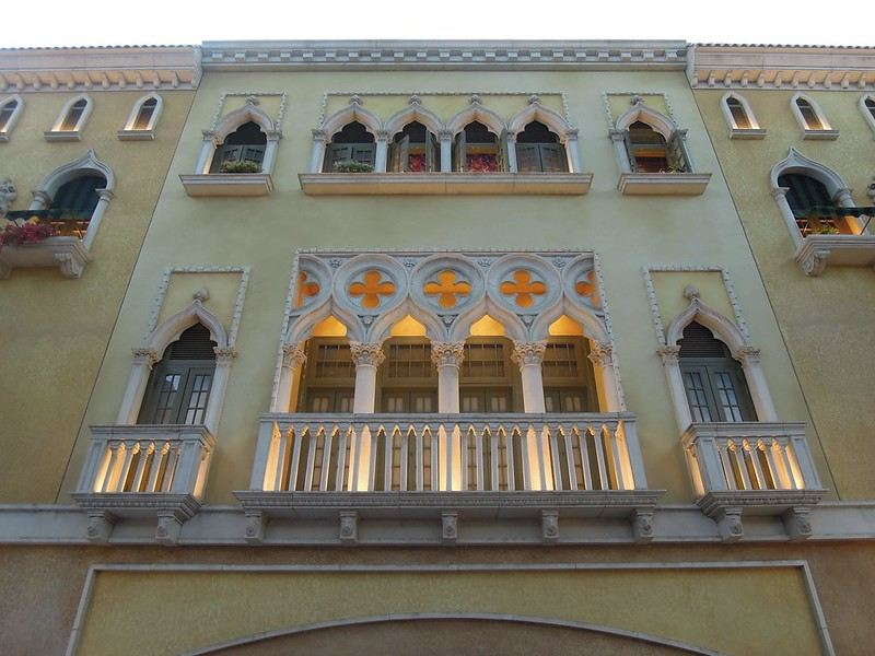 An imitation of a balcony of a house at The Venetian Macao Resort Hotel