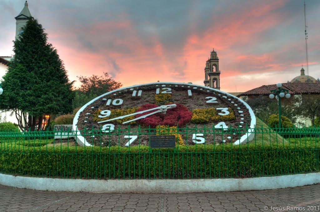 El Reloj Floral, todo un icono de Zacatlán