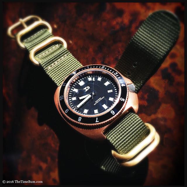 Thetimebum tc 9 bronze 1970 39 s diver and brass pilot - Bronze dive watch ...