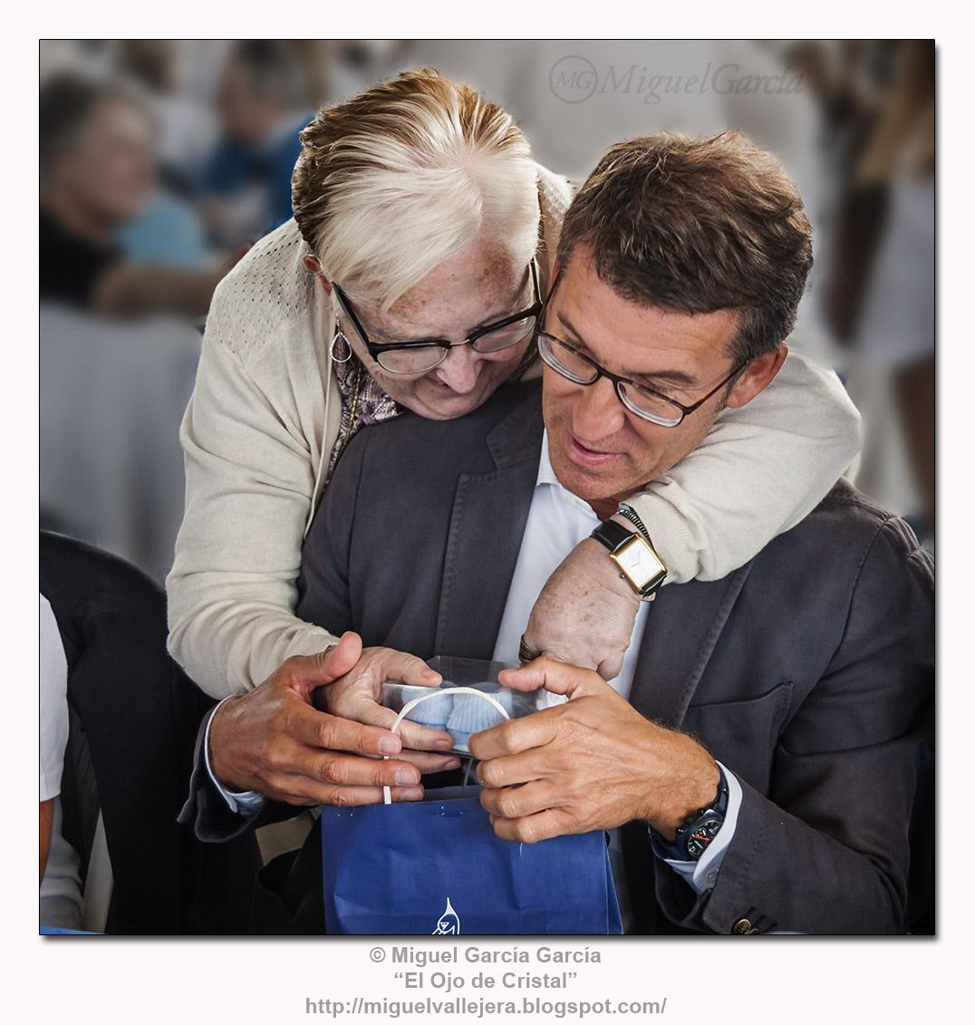 Abuelita y Excmo. Sr. Presidente de la Xunta de Galicia