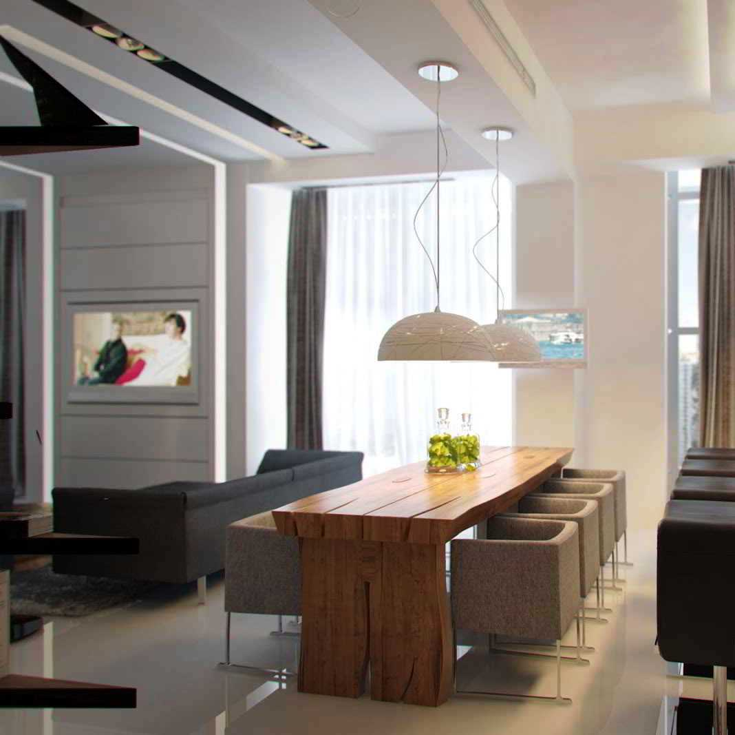 Decora o de sala de jantar 35 op es de decora o for Sala rustica moderna