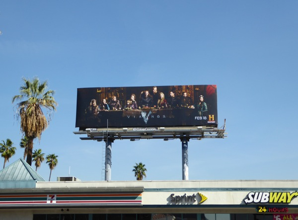 Vikings season 4 TV billboard