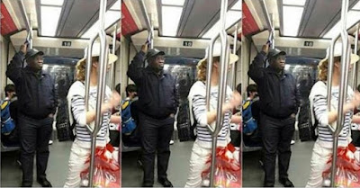 PHOTOS: Governor Ikpeazu Spotted Standing Inside train in China