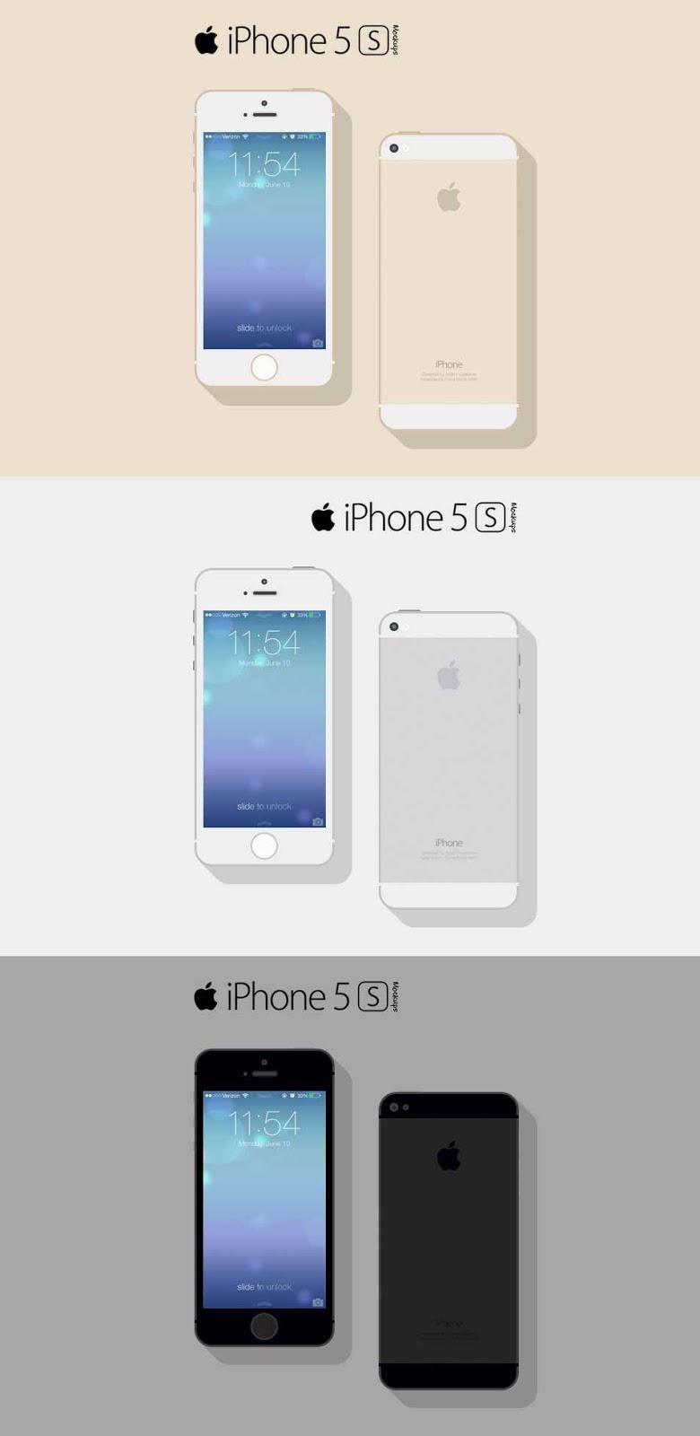 Free iPhone 5s Mockup PSD