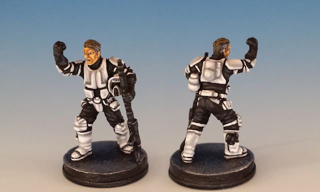 Agent Blaise, FFG Imperial Assault (sculpted by D. Ferreira, 2016)