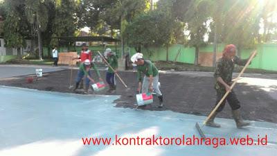 Pembuatan Lapangan Tenis Dengan Finishing Hotmix