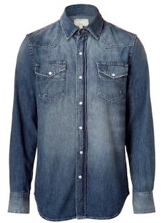 kemeja jeans untuk kerja