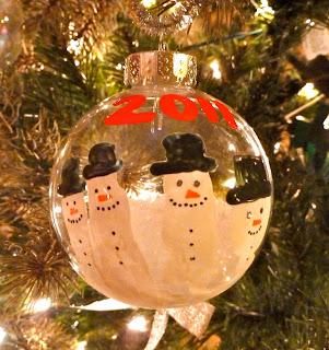 fingerprint snowmen ornaments handprint snowman snow filled ornament 2019
