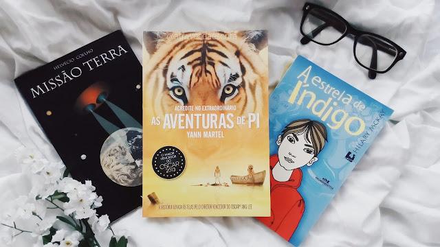 book haul, a estrela de indigo, as aventuras de pi, missão terra