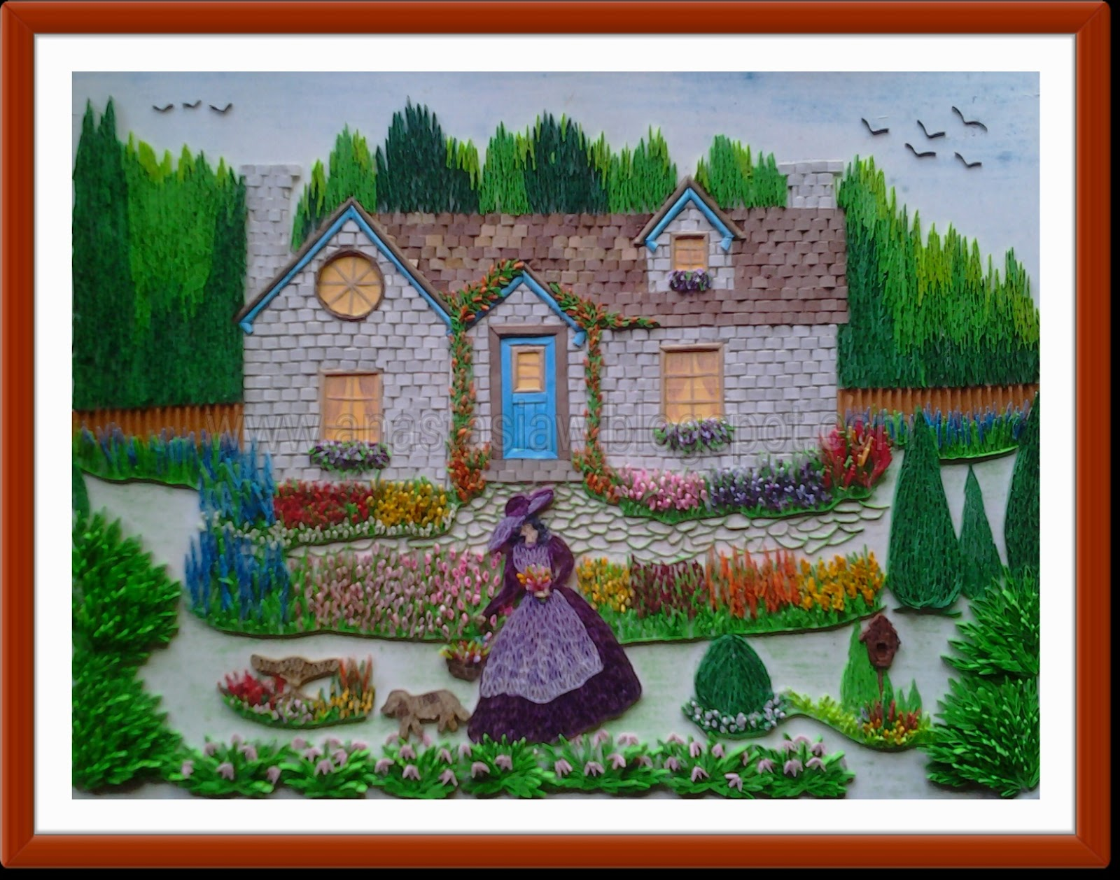 Anastasia annie wahalatantiri quilled cottage garden for Garden artist designs