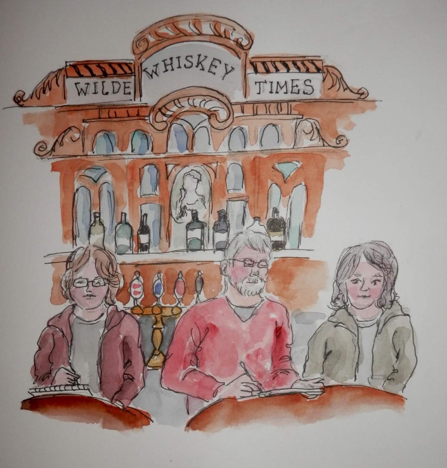 Watercolors By Joan 2 Oscar Wilde Restaurant