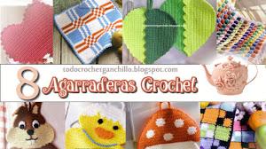 8 Agarraderas Crochet con esquemas / DIY