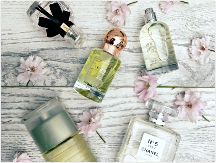 Best spring perfumes Chanel L'Occitane Molton Brown Neom Clinique YSL