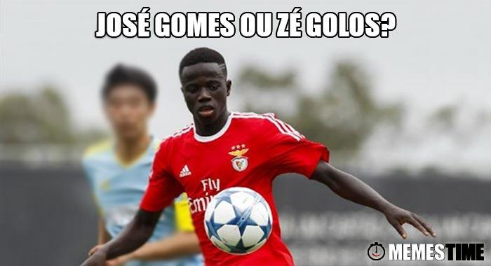Memes Time - José Gomes, jovem Jogador do Benfica com 17 anos – José Gomes ou Zé Golos?