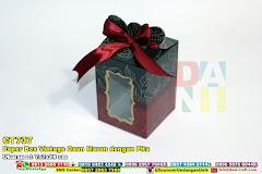 Paper Box Vintage Daun Marun Dengan Pita