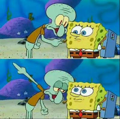 Kumpulan gambar Polosan Meme Spongebob - Spongebob di sarankan sesuatu oleh Squidward