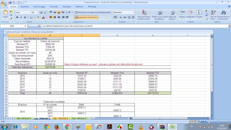 7555 - Traitement fiscale de crédit-bail au Maroc