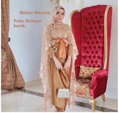 Baju muslim batik wanita kain brokat