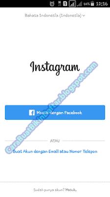 Cara masuk instagram lewat fb