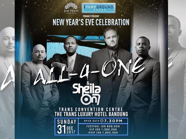 Merayakan Malam Tahun Baru 2018 Bersama All-4-One dan Sheila On 7 di The Trans Luxury Hotel
