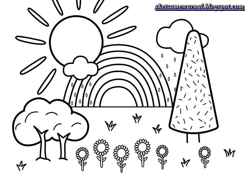 Sketsa Mewarnai Gambar Khusus Untuk Anak Paud Sketsa Mewarnai