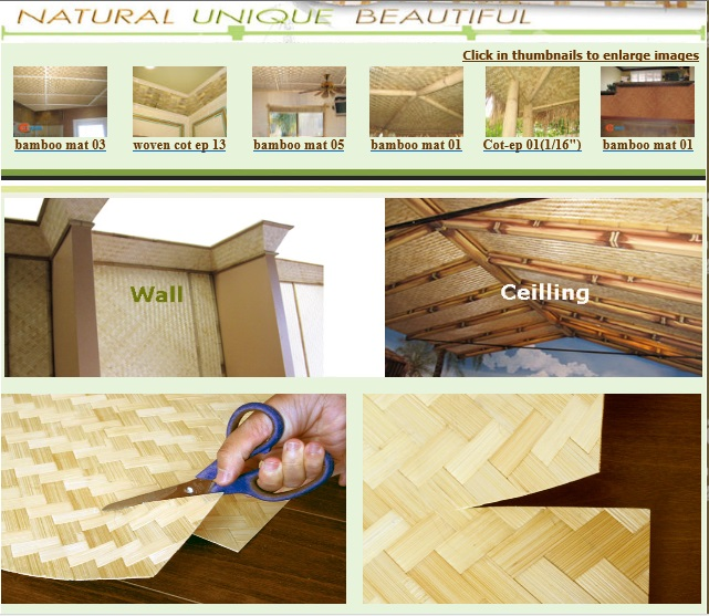 Quality Bamboo And Asian Thatch Bamboo Matting Bamboo