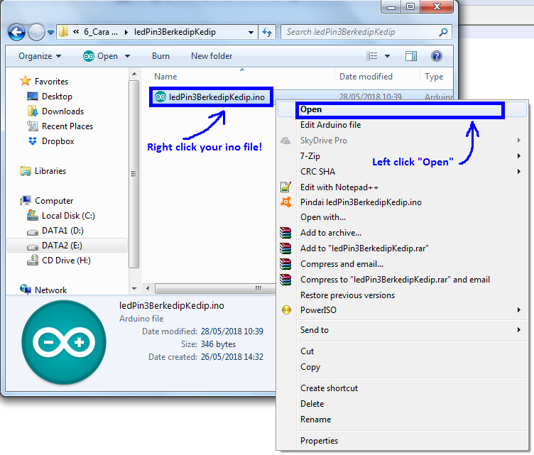 Get Your Hex File from Arduino Program File (ino) - Robotics University