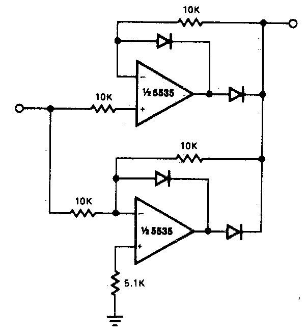 Precision full wave Rectifier Circuit Diagram   Electronic