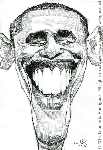 caricatures in spain barack obama